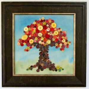 Obraz z gombíkov-strom na jeseň